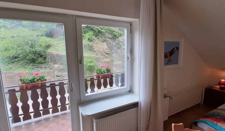 Doppelzimmer mit Balkon im Obergeschoss »Roter Milan«